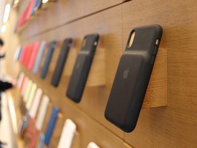 애플 폰케이스 매장 상품 진열
