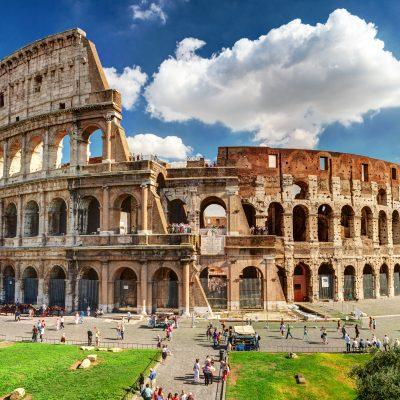 이탈리아 로마 콜로세움 인파 관광