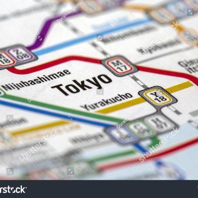 지하철 노선 전철 도쿄 일본