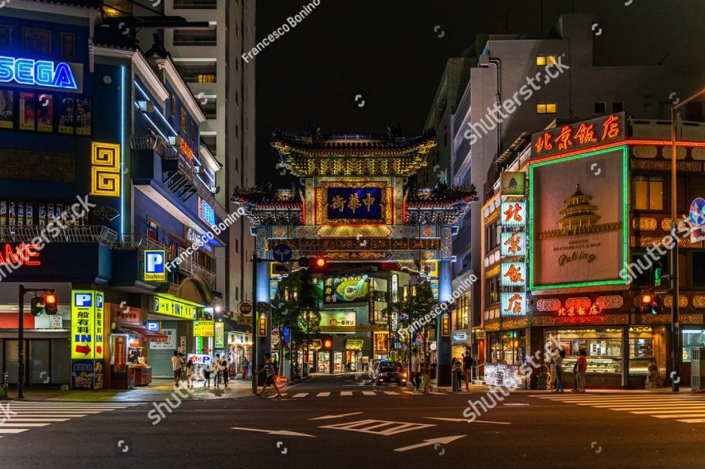 차이나타운 중국 일본 요코하마시
