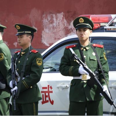 경찰 총 헌병 제복 공무원 무기