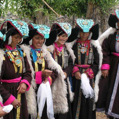전통의상 의복 사람들 티벳