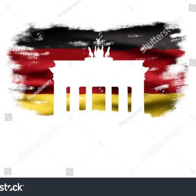 독일 germany 국기 연방기 페인팅