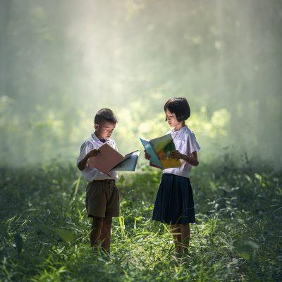 책 독서 도서 자연 숲 아이들 아동 학습