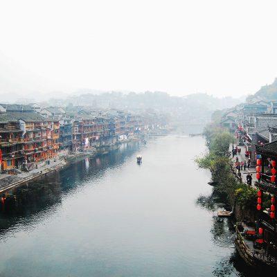 중국 강 양쯔강 문화재 도시