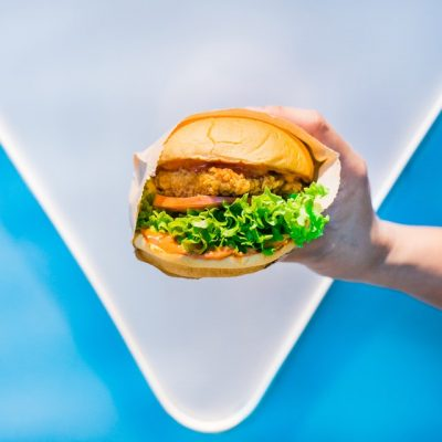 햄버거 버거 패스트푸드 채식