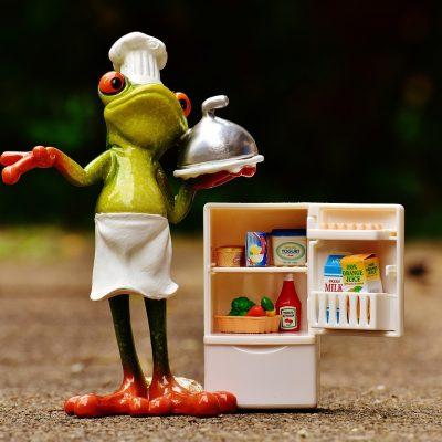 개구리, 냉장고, 미니어쳐, 캐릭터, 최윤식