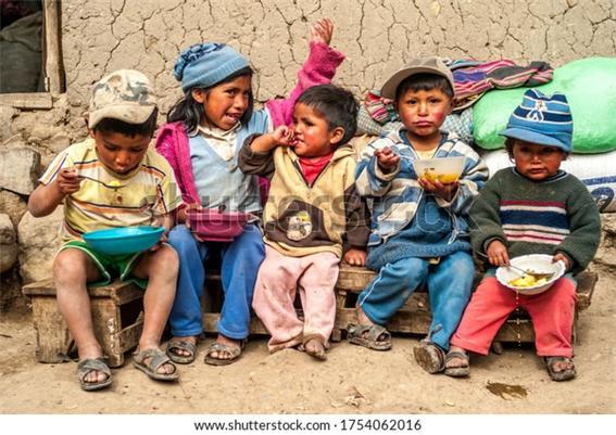 원주민 볼리비아 아이들