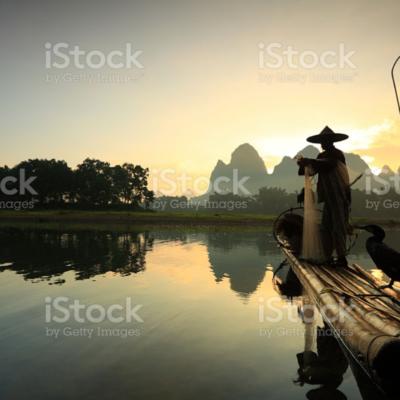 나룻배, 중국, 등불
