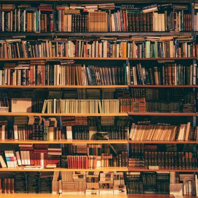 서점, 도서관, 책장