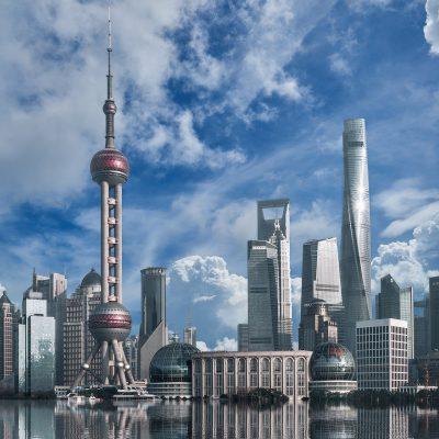 중국경제, 정보기술, 수출, 상해 도시 고층건물 고층빌딩 대도시 스카이라인
