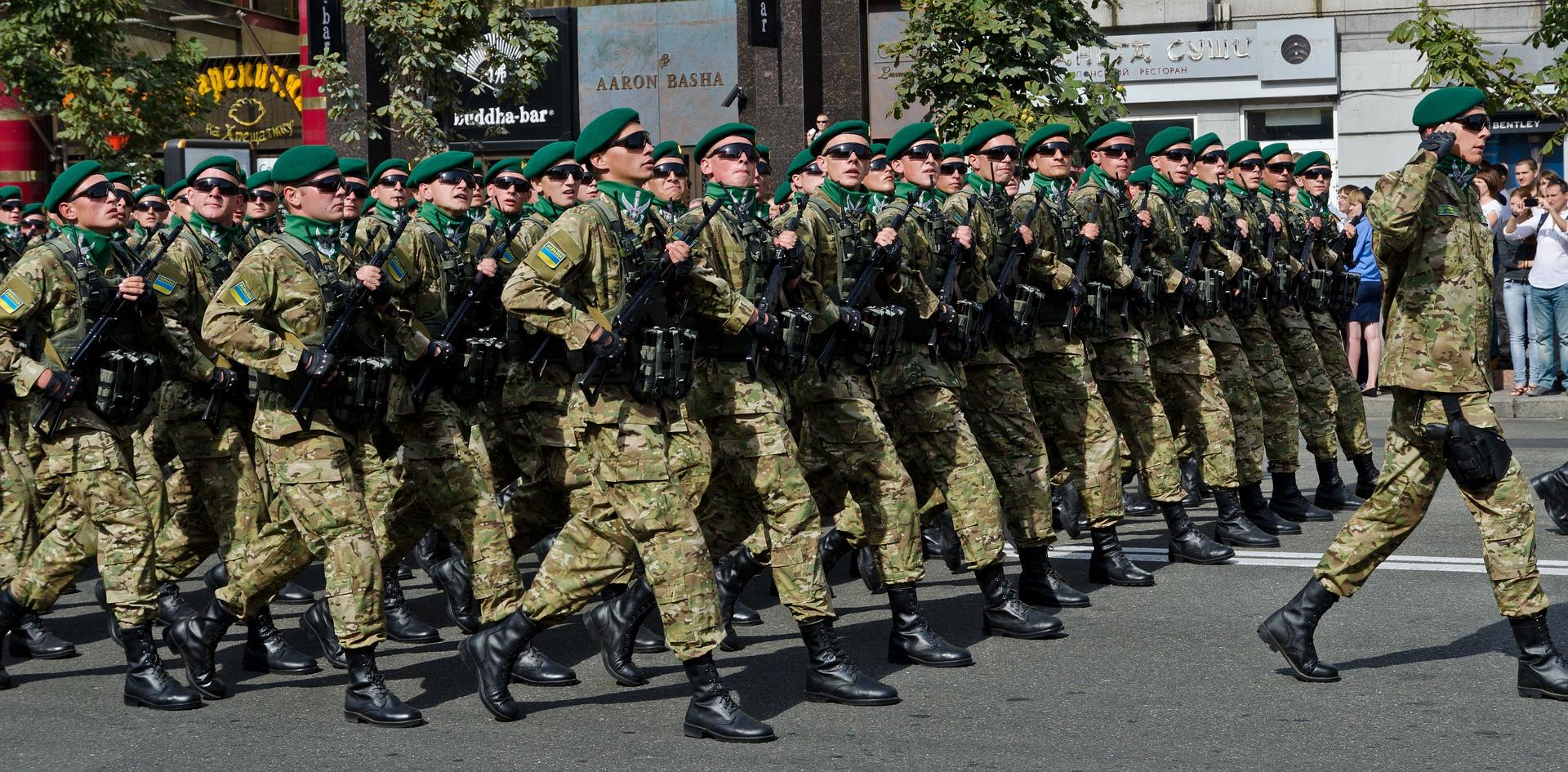 군인 군사 퍼레이드 우크라이나