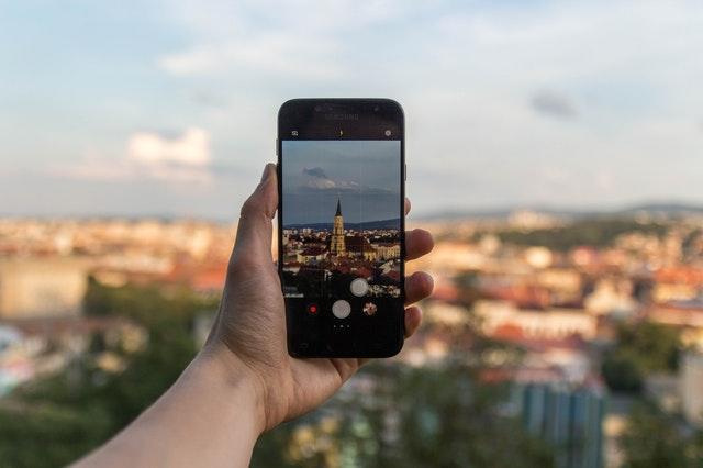 핸드폰, 사진, 배경