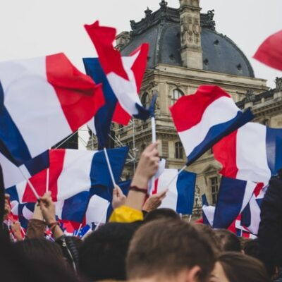 프랑스 시위 행진 깃발
