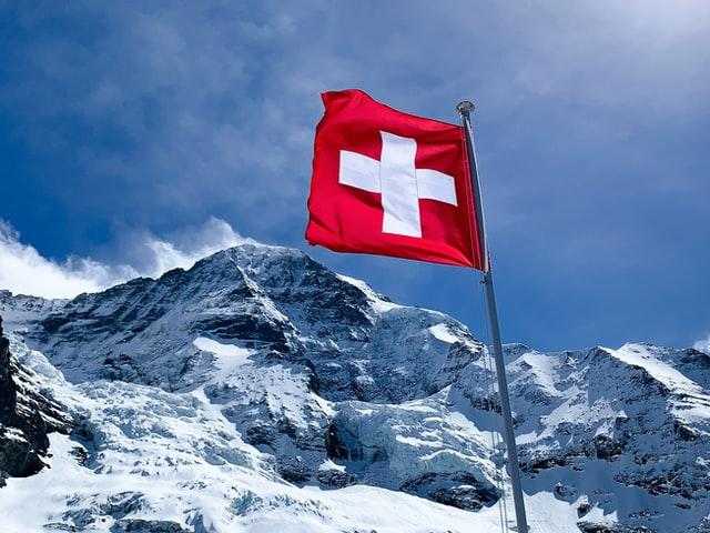 스위스 국기 산
