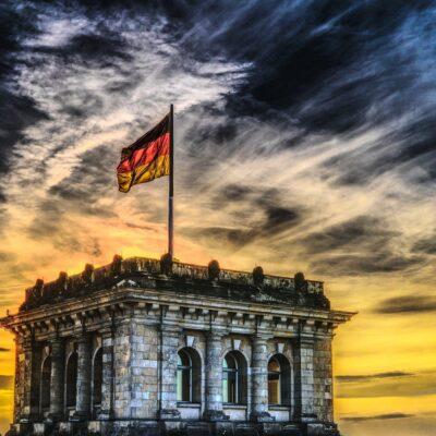 독일 독일국기 독일건물