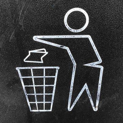 쓰레기 음식물쓰레기 투기 처리