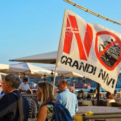 이탈리아 베네치아 크루즈 시위