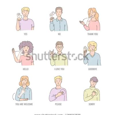 청각장애인, 수화,통역