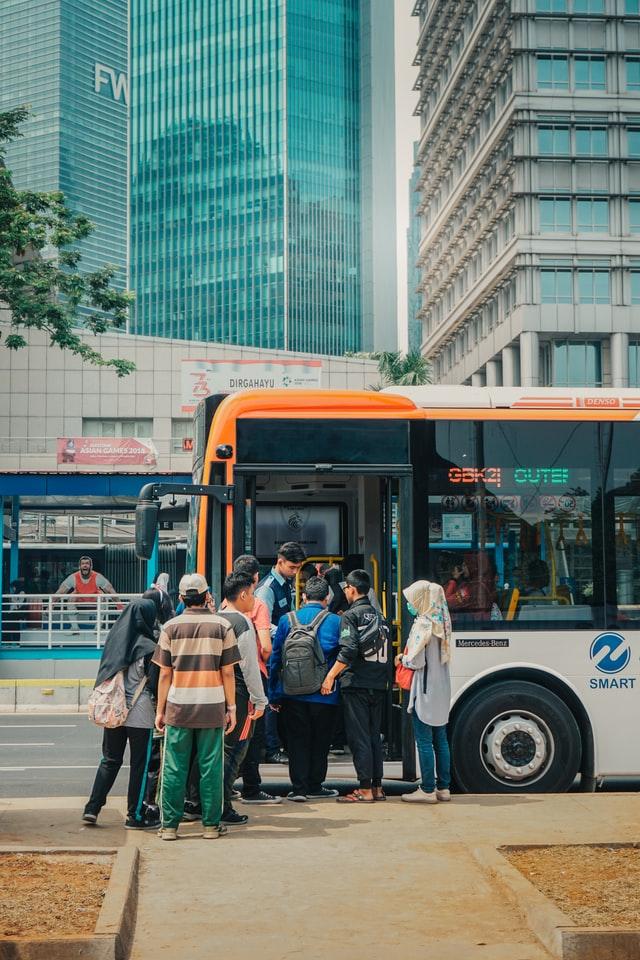 버스, 사람들, 관광버스