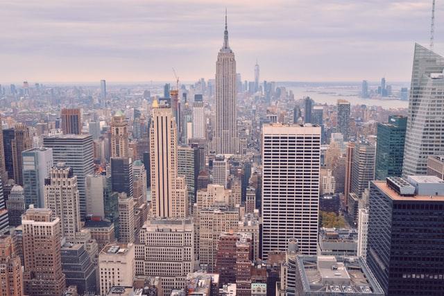 뉴욕 도시 빌딩 번화가 미국 건물